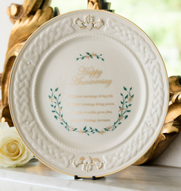 "DECOR BELLEEK ""HAPPY ANNIVERSARY"" PLATE"