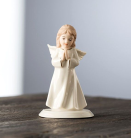 ANGELS BELLEEK LIVING MINI ANGEL of PRAYER