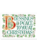 "CARDS ""BLESSINGS & PEACE to YOU"" CHRISTMAS CARDS"