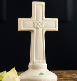 PLAQUES & GIFTS BELLEEK LOVE KNOT CROSS