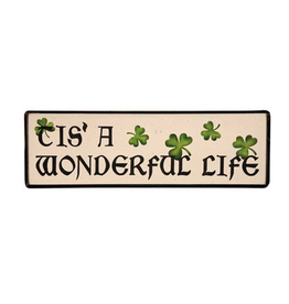 "PLAQUES, SIGNS & POSTERS ""TIS A WONDERFUL LIFE"" WOODEN SIGN"