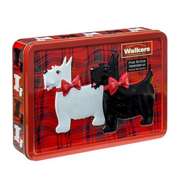 FOODS WALKERS SCOTTIE RECTANGLE SHORTBREAD TIN (220g)