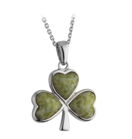 PENDANTS & NECKLACES SOLVAR STERLING & CONNEMARA SHAMROCK PENDANT