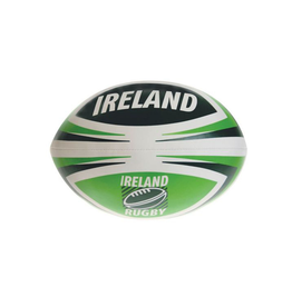 TOYS SMALL GREEN & WHITE RUGBY BALL
