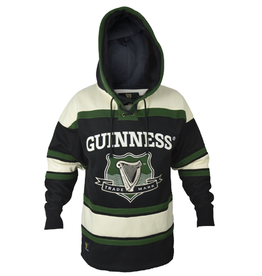 SWEATSHIRTS GUINNESS GREEN HOCKEY STYLE HOODIE