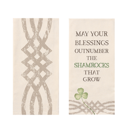 "KITCHEN & ACCESSORIES SET OF 2 ""BLESSINGS"" TEA TOWELS"