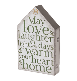 PLAQUES & GIFTS MAY LOVE & LAUGHTER HOME PLAQUE