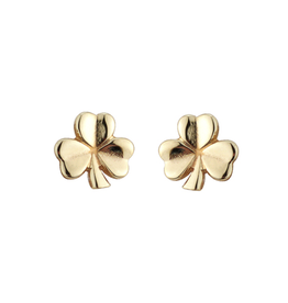 EARRINGS SOLVAR 10K SHAMROCK STUD SMALL EARRINGS