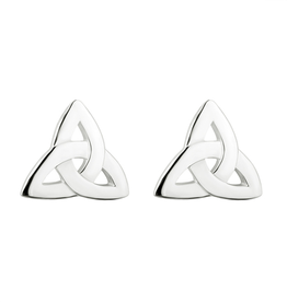 EARRINGS SOLVAR SILVER TRINITY KNOT STUD EARRINGS