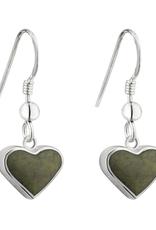EARRINGS SOLVAR STERLING CONTEMPORARY CONNEMARA HEART EARRINGS