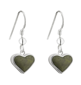EARRINGS SOLVAR STERLING CONTEMPORARY CONNEMARA HEART EARRINGS