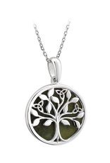 PENDANTS & NECKLACES SOLVAR STERLING & CONNEMARA TREE of LIFE PENDANT