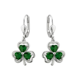 EARRINGS SOLVAR EARRINGS SHAMROCK GREEN STONE