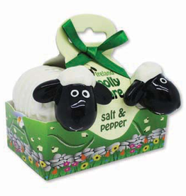 "KITCHEN & ACCESSORIES ""WOOLLY WARE"" SHEEP SALT & PEPPER SET"