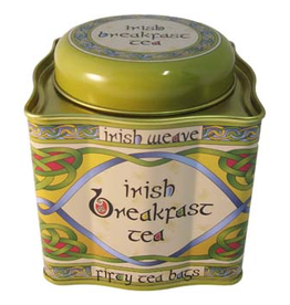 TEAS CELTIC WEAVE TEA TIN - IRISH BREAKFAST