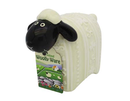 "DECOR ""WOOLLY WARE"" SHEEP FIGURINE"