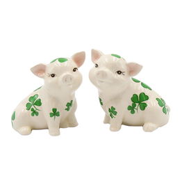 KITCHEN & ACCESSORIES SHAMROCK PIGGIES SALT & PEPPER SET