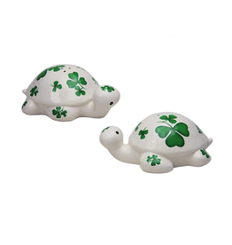 KITCHEN & ACCESSORIES SHAMROCK TURTLE SALT & PEPPER SET