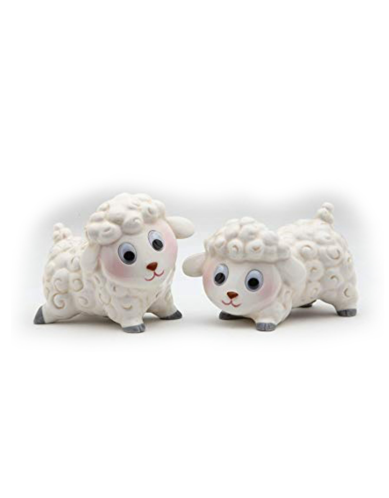 KITCHEN & ACCESSORIES GOOGLEY-EYED SHEEP SALT & PEPPER SET