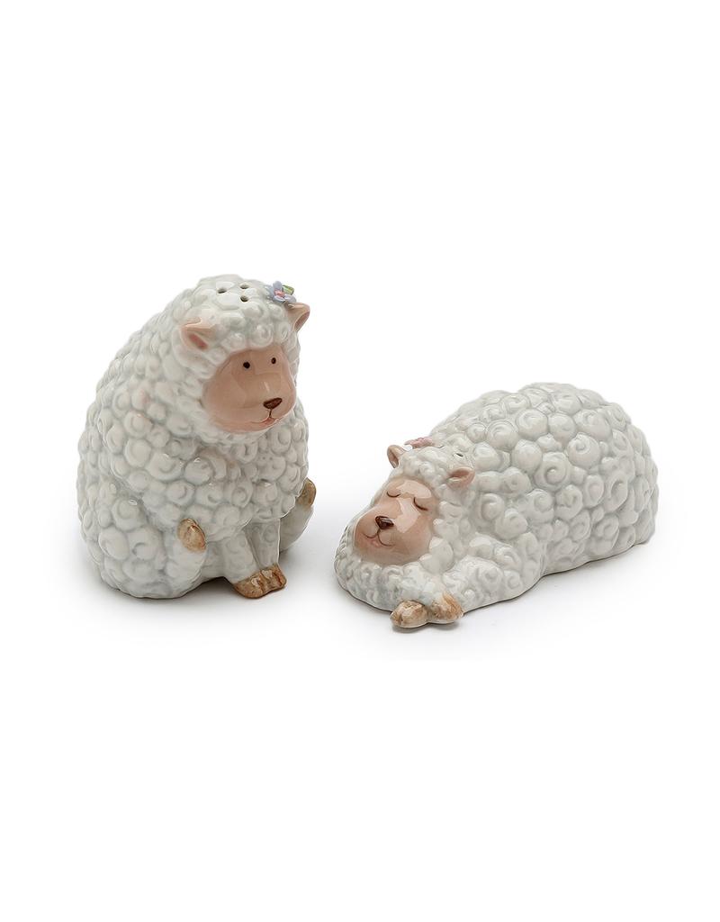 KITCHEN & ACCESSORIES CURLY SHEEP SALT & PEPPER SET