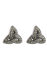 EARRINGS SOLVAR STERLING & MARCASITE TRINITY EARRINGS
