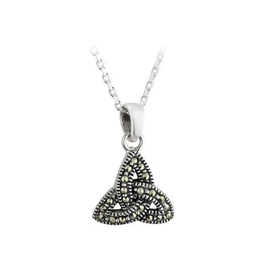 PENDANTS & NECKLACES SOLVAR STERLING & MARCASITE TRINITY PENDANT