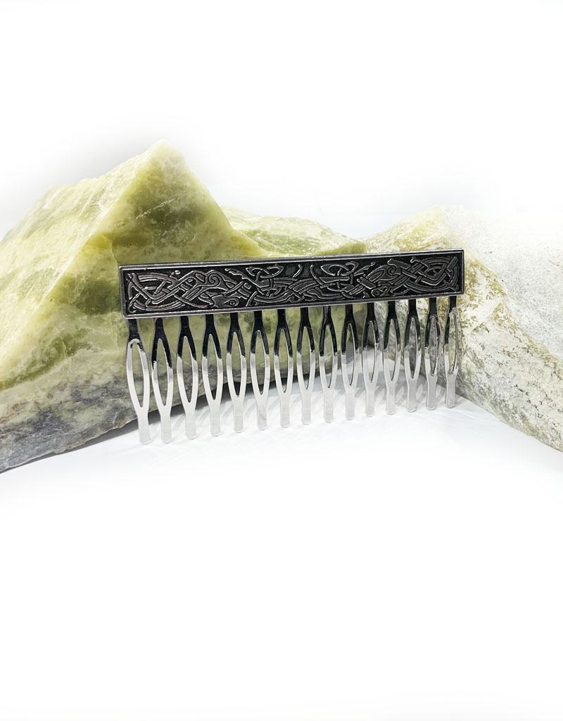 ACCESSORIES MULLINGAR PEWTER CELTIC HAIR COMB