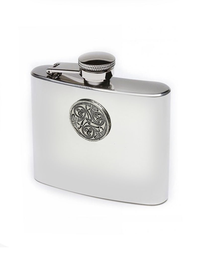 BAR MULLINGAR PEWTER 5oz HIP FLASK
