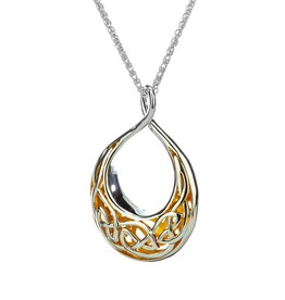 PENDANTS & NECKLACES KEITH JACK STERLING & 22K WINDOW TO THE SOUL LRG TEARDROP PENDANT