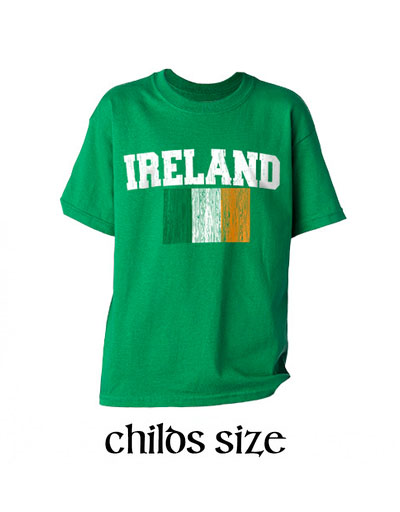 KIDS CLOTHES YOUTH IRELAND FLAG DISTRESSED T-SHIRT