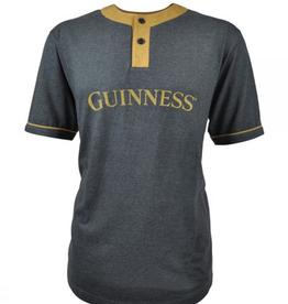 SHIRTS GUINNESS GREY & MUSTARD BASEBALL TSHIRT