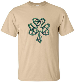 SHIRTS TWISTED SHAMROCK DESIGN TSHIRT