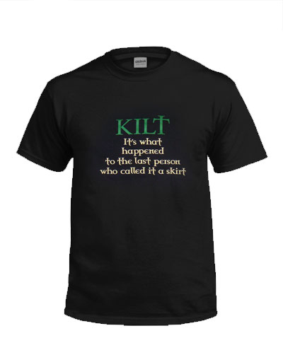 SHIRTS NOVELTY KILT T-SHIRT