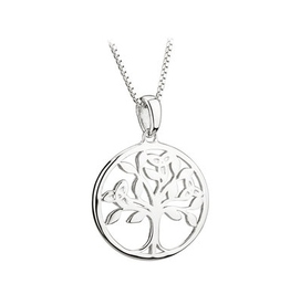 PENDANTS & NECKLACES ACARA SILVER TREE OF LIFE PENDANT