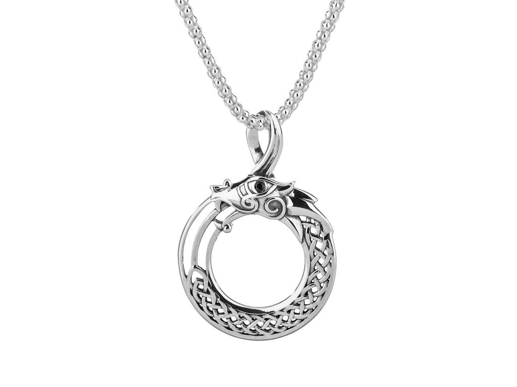PENDANTS & NECKLACES KEITH JACK STERLING NORSE DRAGON PENDANT