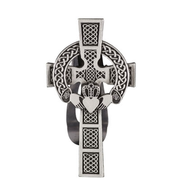 KEYCHAINS/CAR/ETC CELTIC CROSS CLADDAGH VISOR CLIP