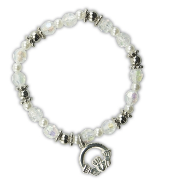 KIDS ACCESSORIES CRYSTAL CLADAGH CHARM BRACELET