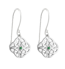 EARRINGS ACARA SILVER FOUR TRINITY EARRINGS with STONE