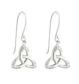 EARRINGS ACARA CRYSTAL TRINITY KNOT DROP EARRINGS