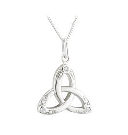 PENDANTS & NECKLACES ACARA CRYSTAL TRINITY KNOT PENDANT