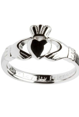 RINGS SHANORE STERLING GENTS INSCRIBED CLADDAGH RING
