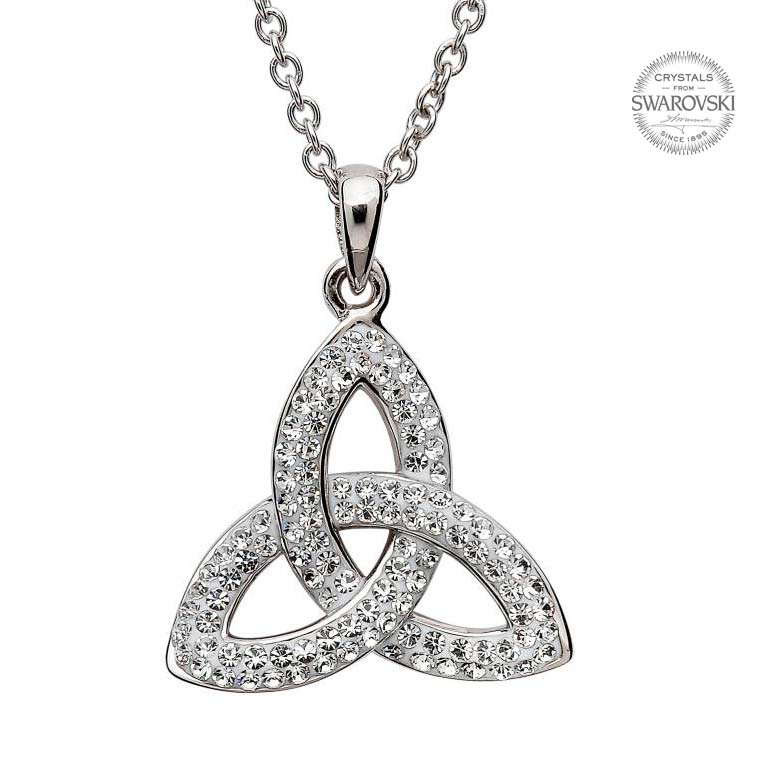 PENDANTS & NECKLACES SHANORE TWIST TRINITY PENDANT with SWAROVSKI CRYSTALS