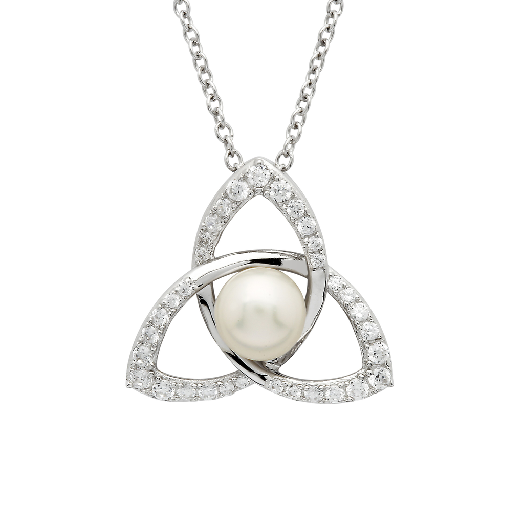 PENDANTS & NECKLACES SHANORE STERLING TRINITY PENDANT with PEARL