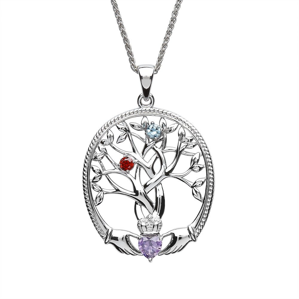 PENDANTS & NECKLACES CLADDAGH MOTHERS TREE PENDANT