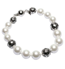 BRACELETS & BANGLES CLEARANCE - SHANORE STERLING & PEARL TRINITY BRACELET - FINAL SALE