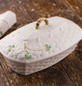 KITCHEN & ACCESSORIES BELLEEK SHAMROCK BUTTER DISH