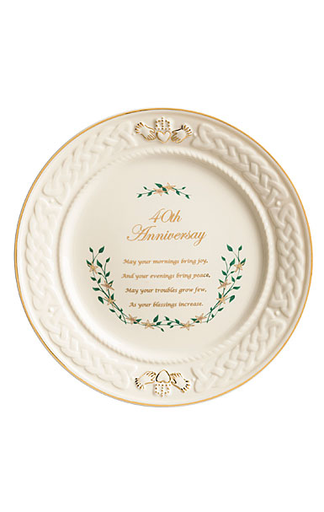 PLATES, TRAYS & DISHES BELLEEK 40TH ANNIVERSARY PLATE