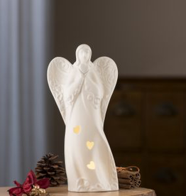 ANGELS BELLEEK LIVING ANGEL VOTIVE with LED