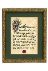 """PLAQUES, SIGNS & POSTERS """"FAMILY LIKE BRANCHES"""" MANUSCRIPT 8X10 PLAQUE"""