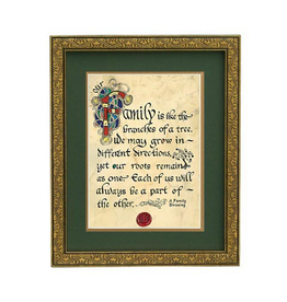 "PLAQUES, SIGNS & POSTERS ""FAMILY LIKE BRANCHES"" MANUSCRIPT 8X10 PLAQUE"
